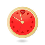 Valentinsgrußborduhr mit Inneren Lizenzfreies Stockfoto