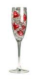 Valentinsgrußchampagnerglas Stockfotografie