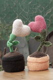 Valentinsgrußdekorations-Blumenherzen Stockbilder