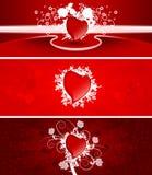 Valentinsgrußfahnen Lizenzfreies Stockfoto