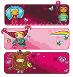 Valentinsgrußfahnenserie Lizenzfreie Stockbilder