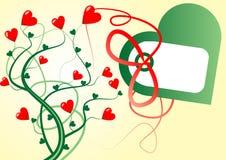 Valentinsgrußgeschenk-Kartenhintergrund lizenzfreie abbildung