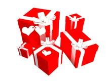 Valentinsgrußgeschenke lizenzfreie abbildung
