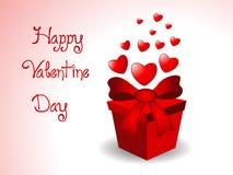 Valentinsgrußgeschenkhintergrund Stockbild