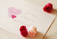 Valentinsgrußglückwunsch Stockbild