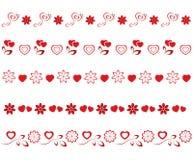 Valentinsgrußgrenzen eingestellt Lizenzfreies Stockfoto