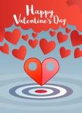 Valentinsgrußgruß mit Zeiger zwei zum Herzkonzept Lizenzfreie Stockfotografie