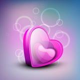 Valentinsgrußgrußkarte Lizenzfreies Stockfoto