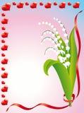 Valentinsgrußgrußkarte Stockbild