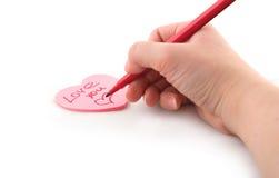 Valentinsgrußgrußkarte Stockfotografie