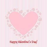 Valentinsgrußgrußkarte EPS10 stock abbildung