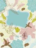 Valentinsgrußhand, die Blumenhintergrund zeichnet Lizenzfreie Stockfotos