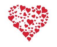 Valentinsgrußherz lizenzfreie abbildung