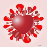 Valentinsgrußherz Stockfotos