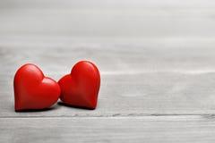Valentinsgrußherz für Liebe Stockfotografie