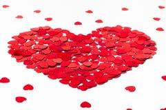 Valentinsgrußherz gemacht von den kleinen Herzen Lizenzfreies Stockbild