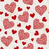 Valentinsgrußherzmuster Stockfotografie