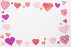 Valentinsgrußherzrahmen Lizenzfreie Stockbilder