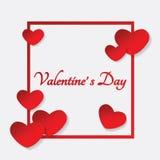 Valentinsgrußherzrahmen lizenzfreie abbildung