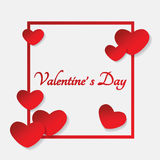 Valentinsgrußherzrahmen Lizenzfreies Stockbild