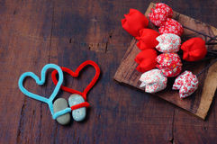 Valentinsgrußhintergrund am 14. Februar ich liebe dich Stockfotos