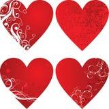 Valentinsgrußhintergrund, Innere, Vektor Lizenzfreies Stockfoto