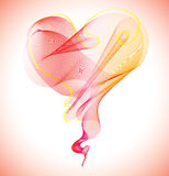 Valentinsgrußhintergrund mit Innerem Stockfotografie