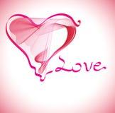 Valentinsgrußhintergrund mit Innerem Stockbilder