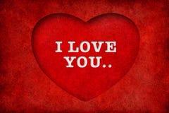 Valentinsgrußhintergrund mit Innerem und Text Lizenzfreie Stockfotos