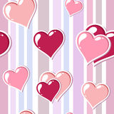 Valentinsgrußhintergrund mit Inneren Lizenzfreies Stockfoto
