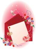 Valentinsgrußhintergrundkarte mit Inneren lizenzfreie abbildung