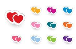 Valentinsgrußikonen stellten #2 ein Lizenzfreie Stockfotos