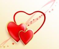 Valentinsgrußinnere Stockbilder
