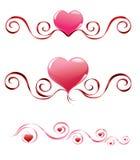 Valentinsgrußinnere lizenzfreies stockbild