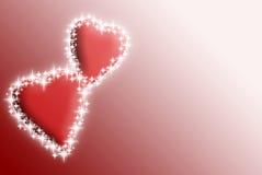 Valentinsgrußinnere mit Sternen Lizenzfreies Stockfoto