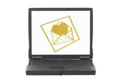 Valentinsgrußinnere, Onlinedatierung Lizenzfreie Stockfotos