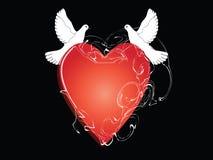 Valentinsgrußinneres lizenzfreies stockbild