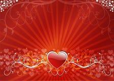 Valentinsgrußinneres mit Blumen Lizenzfreies Stockbild