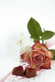 Valentinsgrußinstallation Stockfoto