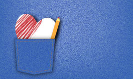 Valentinsgrußjeans-Grafikhintergrund Lizenzfreies Stockfoto