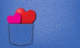 Valentinsgrußjeanshintergrund lizenzfreies stockbild