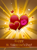Valentinsgrußkarte Stockfoto