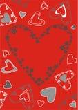 Valentinsgrußkarte lizenzfreie abbildung