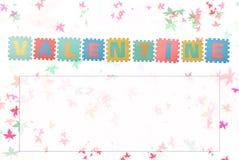 Valentinsgrußkarte lizenzfreie stockfotos