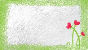 Valentinsgrußkarte im Skizzezauntritt Lizenzfreies Stockbild