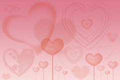 Valentinsgrußkarte mit Herzen Lizenzfreie Stockfotografie