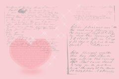 Valentinsgrußkarte mit Herzen Stockfotos