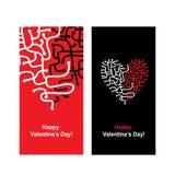 Valentinsgrußkarte mit Herzform für Ihr Design Stockfotografie
