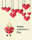 Valentinsgrußkartenei Lizenzfreie Stockbilder