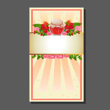 Valentinsgrußkartenglas Bonbons Lizenzfreie Stockfotografie